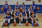 Grady Bronchos Boys Varsity Basketball Winter 17-18 team photo.