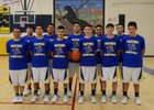 Penasco Panthers Boys Varsity Basketball Winter 17-18 team photo.