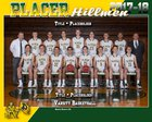 Placer Hillmen Boys Varsity Basketball Winter 17-18 team photo.