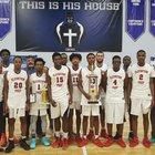 Elevation Prep Academy Honey Badgers Boys Varsity Basketball Winter 17-18 team photo.