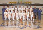 Highland Hornets Boys Varsity Basketball Winter 17-18 team photo.