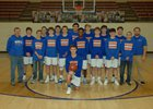 Cedar Ridge Timberwolves Boys Varsity Basketball Winter 17-18 team photo.