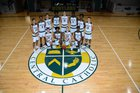 Melbourne Central Catholic Hustlers Boys Varsity Basketball Winter 17-18 team photo.