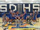 San Dimas Saints Boys Varsity Basketball Winter 17-18 team photo.