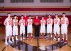 St. John-Endicott Eagles Boys Varsity Basketball Winter 17-18 team photo.