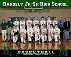 Rangely Panthers Boys Varsity Basketball Winter 17-18 team photo.