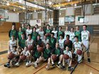 Roosevelt Roughriders Boys Varsity Basketball Winter 17-18 team photo.