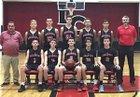 Lawrence County Bulldogs Boys Varsity Basketball Winter 17-18 team photo.