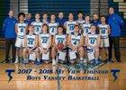 Mountain View Thunder Boys Varsity Basketball Winter 17-18 team photo.