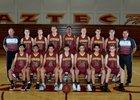 Esperanza Aztecs Boys Varsity Basketball Winter 17-18 team photo.