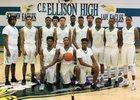 Ellison Eagles Boys Varsity Basketball Winter 17-18 team photo.