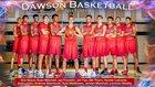 Dawson Eagles Boys Varsity Basketball Winter 17-18 team photo.