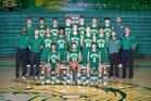 Mayfield Trojans Boys Varsity Basketball Winter 17-18 team photo.