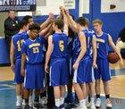Highland School of Technology Rams Boys Varsity Basketball Winter 17-18 team photo.