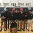 Stockbridge Tigers Boys Varsity Basketball Winter 17-18 team photo.