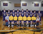 Concord Pirates Boys Varsity Basketball Winter 17-18 team photo.