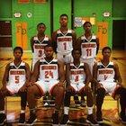 Douglass Hurricanes Boys Varsity Basketball Winter 17-18 team photo.