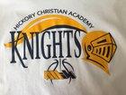 Hickory Christian Academy Knights Boys Varsity Basketball Winter 17-18 team photo.