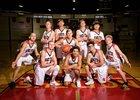 Shelton Highclimbers Boys Varsity Basketball Winter 17-18 team photo.