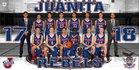 Juanita Rebels Boys Varsity Basketball Winter 17-18 team photo.