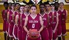 Golden Valley Cougars Boys Varsity Basketball Winter 17-18 team photo.
