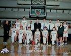 Littleton Lions Boys Varsity Basketball Winter 17-18 team photo.