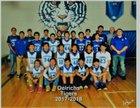 Oelrichs Tigers Boys Varsity Basketball Winter 17-18 team photo.