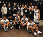 Sunnyside Blue Devils Boys Varsity Basketball Winter 17-18 team photo.