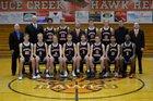 Spruce Creek Hawks Boys Varsity Basketball Winter 17-18 team photo.