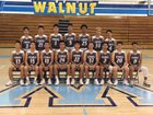Walnut Mustangs Boys Varsity Basketball Winter 17-18 team photo.