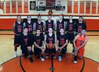 Taos Tigers Boys Varsity Basketball Winter 17-18 team photo.