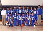 Lakeview Charter Lions Boys Varsity Basketball Winter 17-18 team photo.