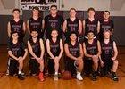 Okanogan Bulldogs Boys Varsity Basketball Winter 17-18 team photo.