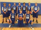 Creede Miners Boys Varsity Basketball Winter 17-18 team photo.