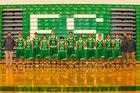 Hokes Bluff Eagles Boys Varsity Basketball Winter 17-18 team photo.