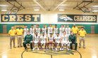 Crest Chargers Boys Varsity Basketball Winter 17-18 team photo.