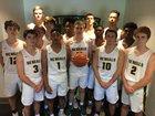 Greensboro Day Bengals Boys Varsity Basketball Winter 17-18 team photo.