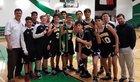 John Paul II Centurions Boys Varsity Basketball Winter 17-18 team photo.