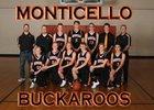 Monticello Buckaroos Boys Varsity Basketball Winter 17-18 team photo.
