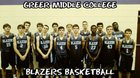 Greer Middle College Blazers Boys Varsity Basketball Winter 17-18 team photo.