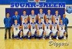 Sugar-Salem Diggers Boys Varsity Basketball Winter 17-18 team photo.