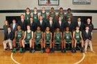 Trinity Shamrocks Boys Varsity Basketball Winter 17-18 team photo.