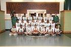Waubonsie Valley Warriors Boys Varsity Basketball Winter 17-18 team photo.