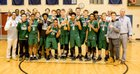 Delaware County Christian Knights Boys Varsity Basketball Winter 17-18 team photo.