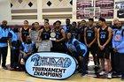 Canyon Springs Pioneers Boys Varsity Basketball Winter 17-18 team photo.