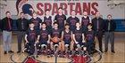 Strathmore Spartans Boys Varsity Basketball Winter 17-18 team photo.