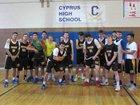Cyprus Pirates Boys Varsity Basketball Winter 17-18 team photo.