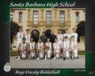 Santa Barbara Dons Boys Varsity Basketball Winter 17-18 team photo.