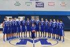 St. Michael's Horsemen Boys Varsity Basketball Winter 17-18 team photo.