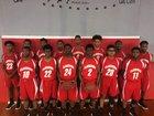 Clarendon Lions Boys Varsity Basketball Winter 17-18 team photo.